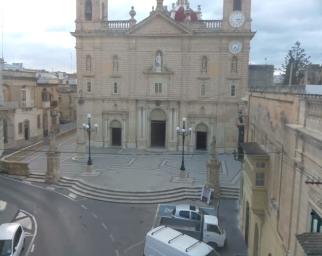 Qormi - St. George's Parish Church . Wonderful view on the façade of St. George's Parish Church