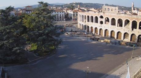 View of Verona Arena in Piazza Bra