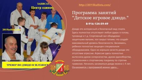 Тренер по дзюдо в Зеленограде.