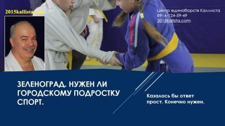 Спорт в Зеленограде для подростков.